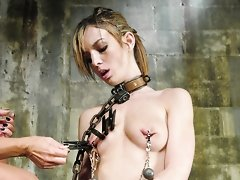 Hot girl next door first time dominated by dominatrix